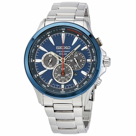 Seiko SSC495 Solar Chronograph Mens Chronograph Eco-Drive Watch