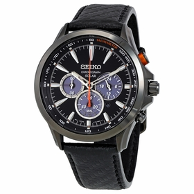 Seiko SSC499 Solar Mens Chronograph Eco-Drive Watch