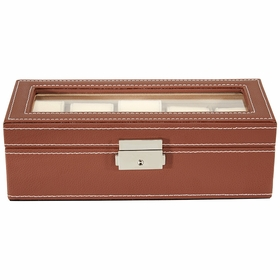 StarFive 5 Piece Watch Box With Cover - Brown LS5-5W-BR