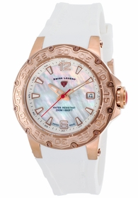 Swiss Legend SL-14098SM-RG-02-WHT Ultrasonic Ladies Quartz Watch