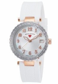 Swiss Legend SL-16002SM-SR-02-WHT Sea Breeze Ladies Quartz Watch