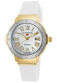 Swiss Legend SL-20032DSM-YG-02-SB-WHT South Beach Ladies Quartz Watch