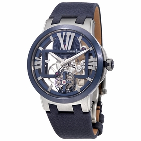 Ulysse Nardin 1713-139/43 Executive Skeleton Tourbillon Mens Hand Wind Watch