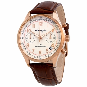 William L 1985 WLOR01BCORCM Vintage Mens Chronograph Quartz Watch