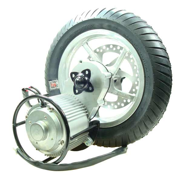 24 Volt 450 Watt Direct Drive Electric Motor Rear Wheel