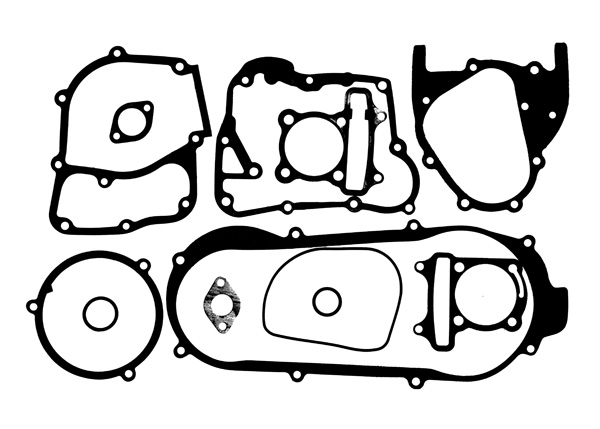 gasket set for gy6b short case engines 170cc and 180cc big