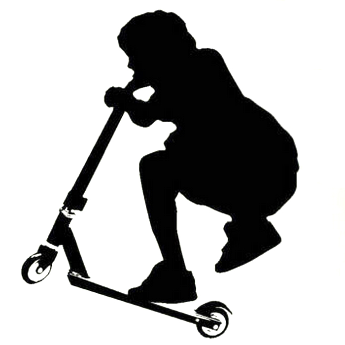 kick scooter stunt wall sticker  multiple choices