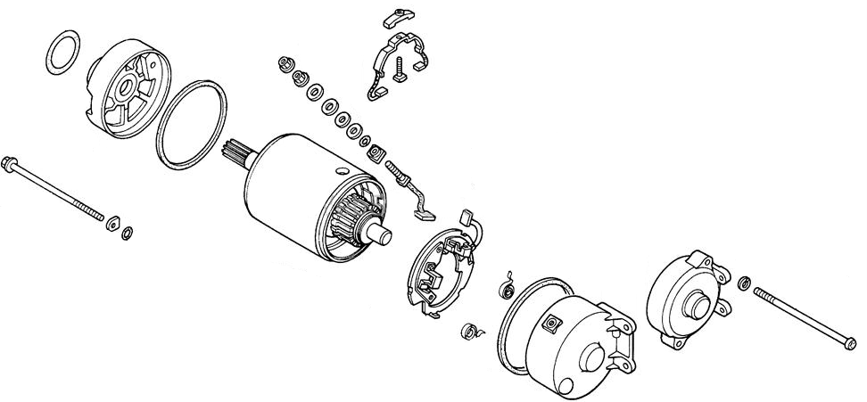 starter motor assembly for honda elite 250  1985