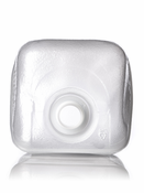 CPS, Ho22 1 gallon clear LDPE cube-shaped collapsible water container with 38-400 neck finish