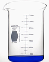 Kimble  KIMAX 14005-4000 Heavy-Duty Glass Beaker with Spout, Low Form, Graduated White Double Scale, 4000mL