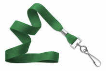 "Brady People ID, Green 5/8"" (16 mm) Lanyard with Nickel-Plated Steel Swivel Hook"