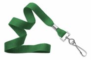 "BPID Green 5/8"" (16 mm) Lanyard with Nickel-Plated Steel Swivel Hook"