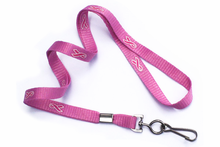 """Brady People ID, Breast-Cancer Awareness, Pink Ribbon 3/8"""" (10 mm) Lanyard with Swivel Hook"""