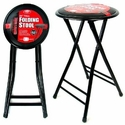 "ESS, 24"" Cushioned Folding Stool with Safety Lock."