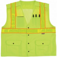 2W International 8148YC-2 Hi-Vis Class 2 Level 2 100% Polyester Safety Vest