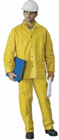 2W International 7040-SD Yellow Rainsuit With Detachable Hood