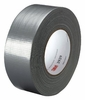 3M 2929-SILVER-48MM Utility Duct Tape; Polyethylene Over Cloth Scrim/Rubber Backing, 48 mm x 45.7 m, Silver