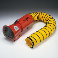"""Allegro® Industries AC 1/3 HP Plastic 8"""" COM-PAX-IAL Blower with Canister And 15' Duct"""