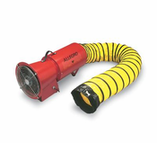 """Allegro® Industries DC 1/4 HP 8"""" AC COM-PAX-IAL Metal Blower With Canister And 15' Duct"""