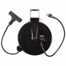 Bayco SL 801 30ft Retractable Metal Cord Reel w/3 Outlets - 13amp