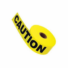 "North By Honeywell, CT3YE1 Barricade Tape, 3"" x 1000 ft, ""Caution"" Text, Yellow / Black"
