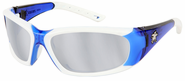 Crews, ForceFlex® Next Generation -Safety Glasses, Blue and White Frame, Silver Mirror Lens