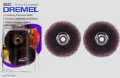 Dremel 512E 3/4 in. 320-Grit Fine Abrasive Buffs (2-Pack)