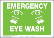 Sperian Emergency Eye Wash Station Sign