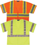 ERB S683P Class 3 Mesh Two-Tone Safety Vest with Zipper - Orange