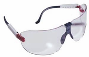 AO Safety, Medium Fectoids, Safety Eyeware With Red/White/Blue Temple And Clear Lens