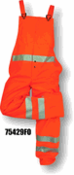 Majestic Glove, 5429, Flexothane Bib Trouser, Fluorescent Orange, 3m Reflective Striping, 75429FO