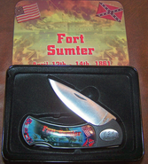 Fort Sumter Knife in Collectiable Tin