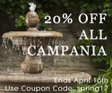 Get your garden ready for spring use (Coupon Code spring 17) and save 20% now Ends April 16!