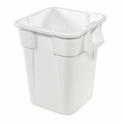 Rubbermaid RCP3536WHI 40 Gallon Square  Brute Waste Receptacles - White