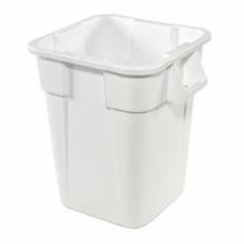 Global Industrial 40 Gallon Square Rubbermaid Brute Waste Receptacles - White