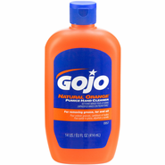 Gojo 0947 Natural Orange Pumice Hand Cleaner, 14 oz Bottle