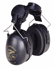 Tasco, Golden Eagle Cap Mounted Earmuffs, Item # 2951, Soft-Seal™ ear cushions combined with very low pressure for maximum comfort and acceptance.