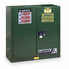 Justrite Green Safety Cabinets for Pesticides