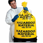 Yellow Disposable 6 Mil Hazardous Material Bags