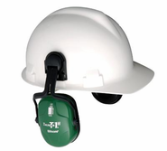 Howard Leight® Thunder® T1H Light Green Metal Helmet Mount Noise Blocking Earmuffs