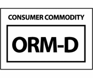 NMC HW26 COMSUMER COMMODITY ORM-D 1 1/2 X 2 1/4 Haz Mat Label