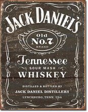 Jack Daniel's T1916 Weathered Logo Tin Sign