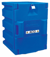 Justrite 24040 Safety Cabinet for Corrosive Liquids, Padlockable Doors, Polyethylene, Blue