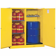 Justrite, Flammable Safety Cabinet, 115 Gal., Yellow, Item # 899260
