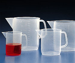 Kartell®, Polypropylene Beaker With Handle, Pitcher, PP, Molded Graduations, 5000mL