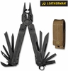 "Leatherman Super Tool 300 EOD - 4.5"" Closed - 19 Tools - Black Oxide Finish - Brown Nylon Molle Sheath"