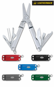 """Leatherman  Micra - 2.5"""" Closed - 10 Tools - Spring Action Scissors - Satin Finish Stainless Steel Handles"""