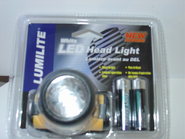 Lumilite White LED Head Light W/batteries   *****Discontinued*****