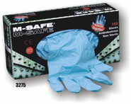 M-Safe, Nitrile, Disposable, 5-6 Mil, Textured Fingertips, Premium Industrial Grade