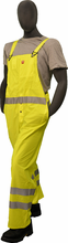 Majestic, Flexothane Bib Trouser, Flame Retardant, Fluorescent Yellow, 3m Reflective Striping